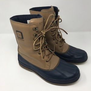Sperry Waterproof Snow Boot Leather Men's Brown 10